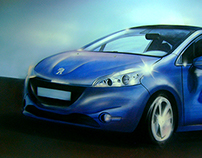 Mural painting for RINF Company - Peugeot project