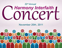Harmony Interfaith Concert Poster Evolution