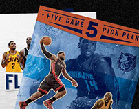Flyer Designs for NBA Charlotte Bobcats
