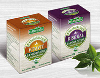 Packaging design for Darvitalis Eco Teas