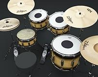 TAMA drum kit 3D model