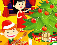 Christmas illustrations for a Fundation