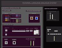Fictional Language Dialogue System - Max/MSP