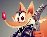 Mascotte Character Design for a Guitar School