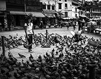 Nepal - Black and White