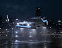 B.T.T.F. Flying DeLorean