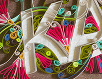 Quilled Name Plate ~ Kamat's