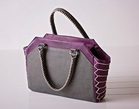 Japanese Stitch Binding Inspired Handbag