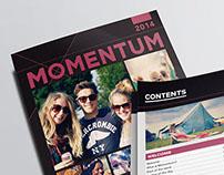 Momentum 2014/15 Print Design