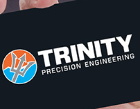 Trinity Precision Engineering logotype and stationery