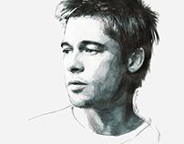 Portrait of Brad Pitt