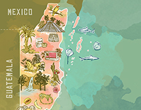 """Belize Map for """"It's Sweet & Savory"""" Blog"""