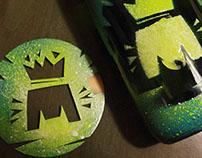 label beer - hand made - work in progress