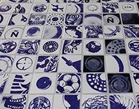 Compañía de Café: Mural de Azulejos