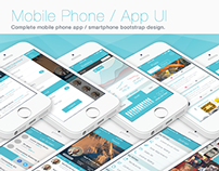 Flat iPhone iOS 7-8 / Mobile App Bootstrap UI