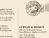 Carte postale Gervais & Michon