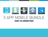 5 iOS Apps Mobile Phone Bundle - iPhone & Tablet Apps