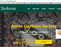 Website Redesign: Annie Clarkson Society