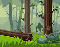 4 Backgrounds for game UFO Go Home!
