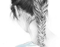 fishtail braid study #1
