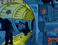 """GUTTER RATS"" Illustration"