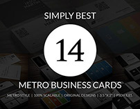 Metro Style Business Card Bundle