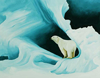 Iceberg, oil on board