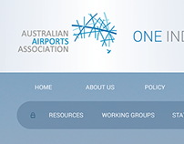 Australian Airports Association - website concept
