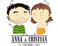 WEDDING ILLUSTRATION Anna & Cristian 2014