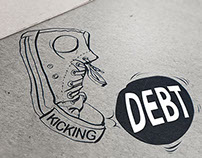 Kicking Debt Logo