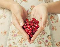 Mädchen mit Früchten