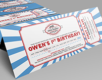 Train Themed Invitation & Party Package
