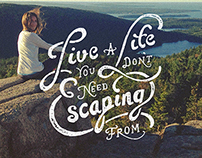 Hand Lettered Motto