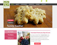 Website design: Howlistic Hounds Bakery - Sept 2014