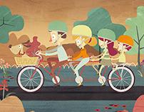 Illustrations for Blumenau's anniversary