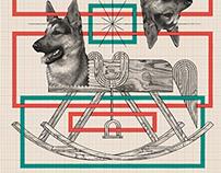 Risograph print: Dog