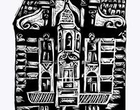 Linocut Lviv