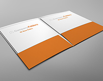 [Free PSD} Open Two Pocket Folder Mockup Template