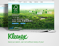Kleenex China Branding campaign website