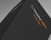 [Free PSD] Upper Presentation Folder Mockup Template