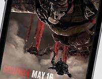 Godzilla (2014) Parallax Mobile Ad