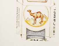 Camel Cigarettes Watercolor