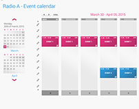 Radio 4G event calendar for Flumotion