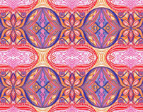 Sherbet Shells Fabric Design