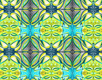 Strawberry Lime Textile Design Variation