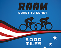 Race Across America T-Shirt Design