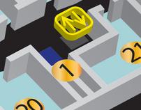"""Shopping mall """"Forum"""" vector plan"""