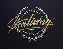 It's a living // Lettering