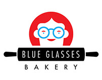 Blue Glasses Bakery Branding