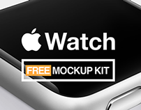 Apple Watch Free Mockups Kit